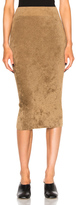 Helmut Lang Midi Pencil Skirt in Brown.