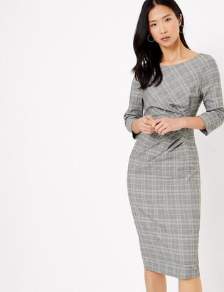 Marks and Spencer Checked Tailored Bodycon Dress