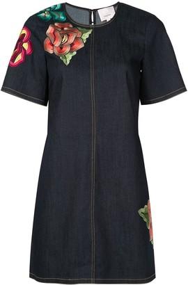 Cinq à Sept Ashton embroidered denim dress