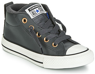 Converse CHUCK TAYLOR ALL STAR STREET RED ROVER LEATHER HI girls's Shoes (High-top Trainers) in Black