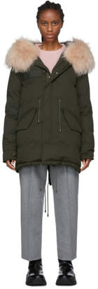 Mr & Mrs Italy Green Down Puffer Parka