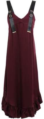 Mother of Pearl Florence Ruffle-trimmed Satin-crepe Midi Dress