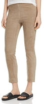 Vince Split-Hem Suede Leggings
