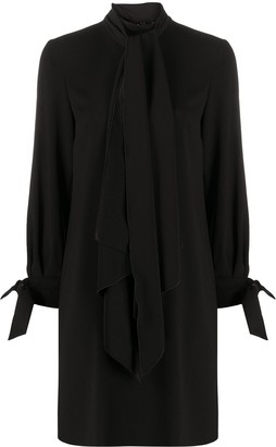 Paule Ka Tie-Detail Shift Dress