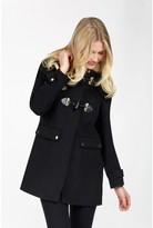Select Fashion Fashion Women's Black Luxe Duffle Coat - size 6