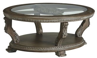 Astoria Grand Kansas Floor Shelf Coffee Table with Storage