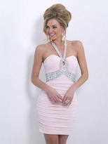 Blush Lingerie X154 Bedazzled Halter Neck Sheath Skirt