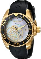 Invicta Women's 0489 Angel Collection Cubic Zirconia Accented Polyurethane Watch