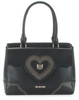 Love Moschino Studded Heart Handbag