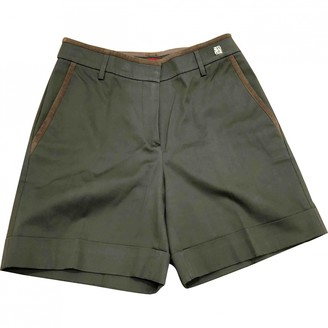 Carolina Herrera Green Wool Shorts for Women
