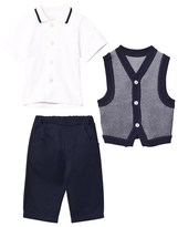 Emile et Rose 3 Piece Top, Vest and Trousers Set