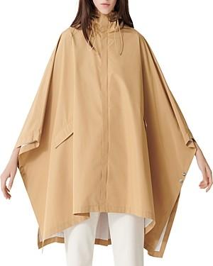 Maje Galak Hooded Poncho-Style Coat