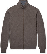 Hackett - Mayfair Suede-trimmed Wool And Cashmere-blend Zip-up Cardigan