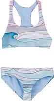 Mara Hoffman Wave-Print Halter Bikini