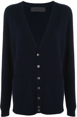 The Elder Statesman V-Neck Cashmere Cardigan