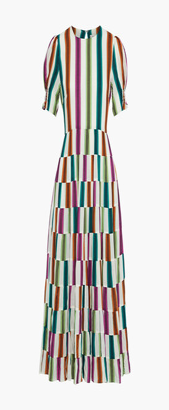 Diane von Furstenberg Zadie Tie-back Printed Voile Midi Dress
