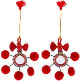 Shiraleah Boho Pendant Pom Pom Ornaments (Set of 2)