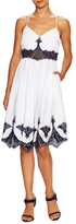 Jonathan Simkhai Cotton Embroidered Poplin Dress
