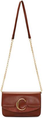 Chloé Brown C Chain Clutch Bag
