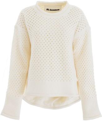 Jil Sander Perforated Wool Pullover