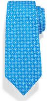 Kiton Neat Woven Flower Silk Tie, Blue
