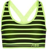 Thumbnail for your product : Adam Selman Sport Striped cross-back sports bra