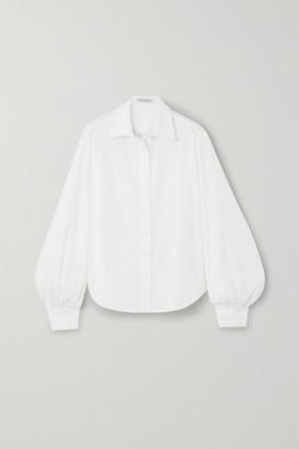 ANNA QUAN Bea Broderie Anglaise Cotton Shirt - Ivory