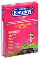 Benadryl Children's 20-Count Allergy Chewables Tablets in Grape