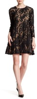 Cynthia Steffe Asha Long Sleeve Floral Mesh Dress