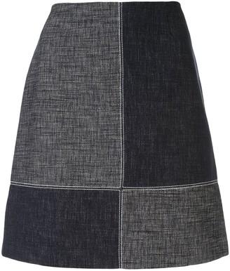 Paule Ka colour-block mini skirt