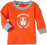 Petit Bateau Graphic Tee (Baby) - Orange-3 Months