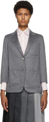 Thom Browne Grey Cashmere Sack Blazer