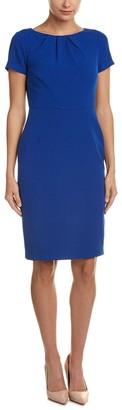 Adrianna Papell Women's Seamed and Tucked Sheath Dress