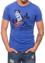 Jack Of All Trades Superman Print Slub T-Shirt