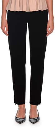 Giorgio Armani Full-Leg Linen-Blend Pants