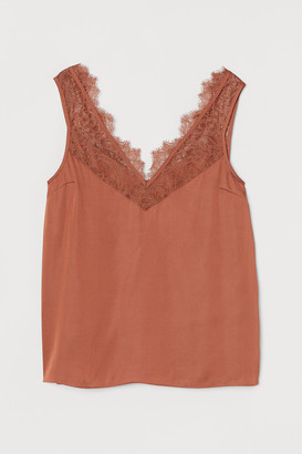 H&M Lace-trimmed Top