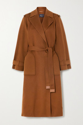 Loro Piana Belted Cashmere Trench Coat - Camel
