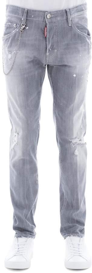 DSQUARED2 Grey Cotton Skater Pants