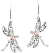Black Hills Gold Dragonfly Earrings Sterling/12K