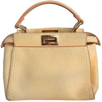 Fendi Peekaboo Yellow Python Handbags