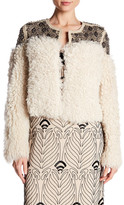 Haute Hippie Beaded Genuine Shearling Jacket