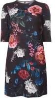 Dorothy Perkins Womens Petite Multi Coloured Floral Shift Dress