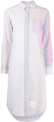 Thom Browne RWB midi shirt dress
