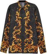 Versace Baroque Medusa-print Silk Shirt
