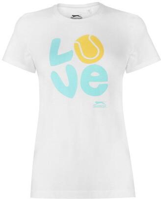 Slazenger Graphic T Shirt Ladies