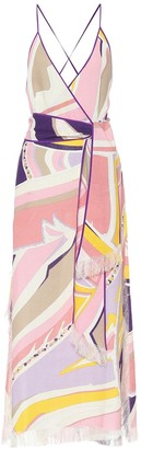 Emilio Pucci Printed linen maxi dress
