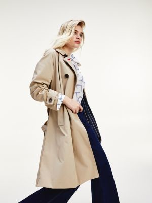 Tommy Hilfiger Essential Double Breasted Maxi Trench Coat