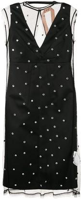 No.21 layered embellished dress