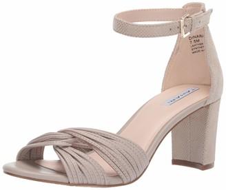 Tahari Womens Dinara Heeled Sandal Sand Leather/Snake 9.5 M
