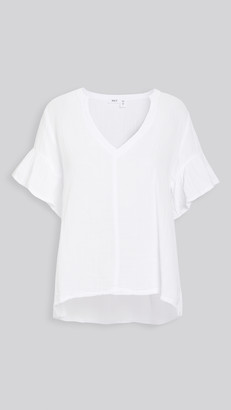 Wilt Split Neck Short Sleeve Top